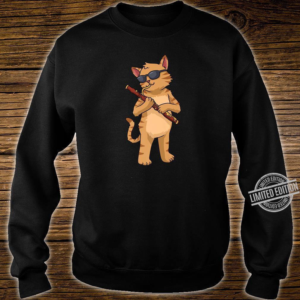 Cat Bassoon Jazz Music Cat Bassoonist Shirt sweater