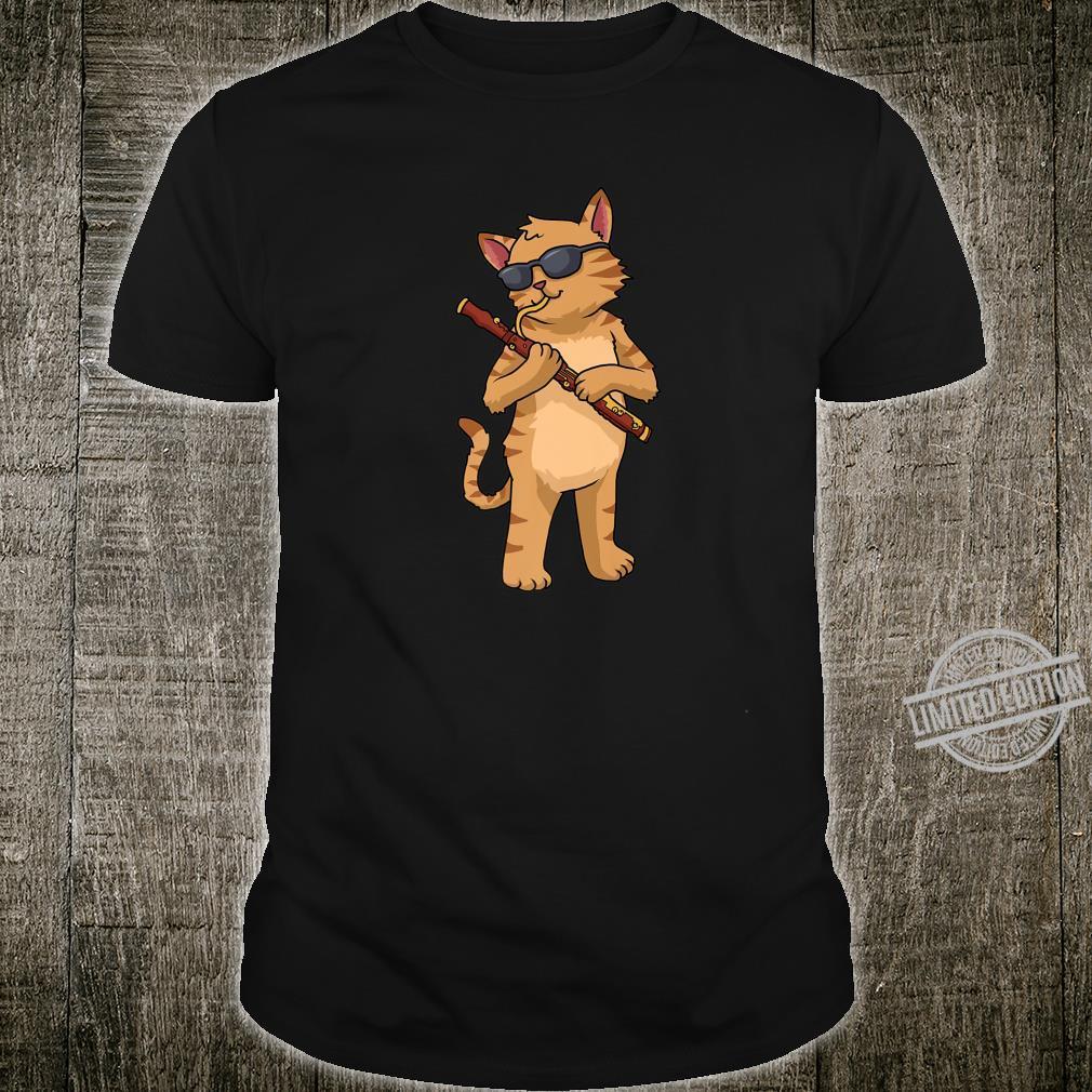 Cat Bassoon Jazz Music Cat Bassoonist Shirt
