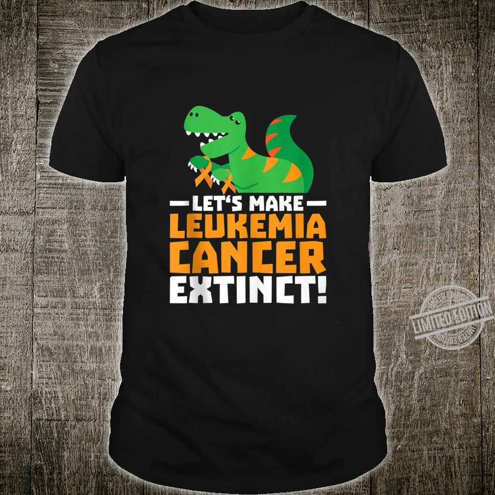 Make Leukemia Cancer Extinct T Rex Awareness Survivor Shirt