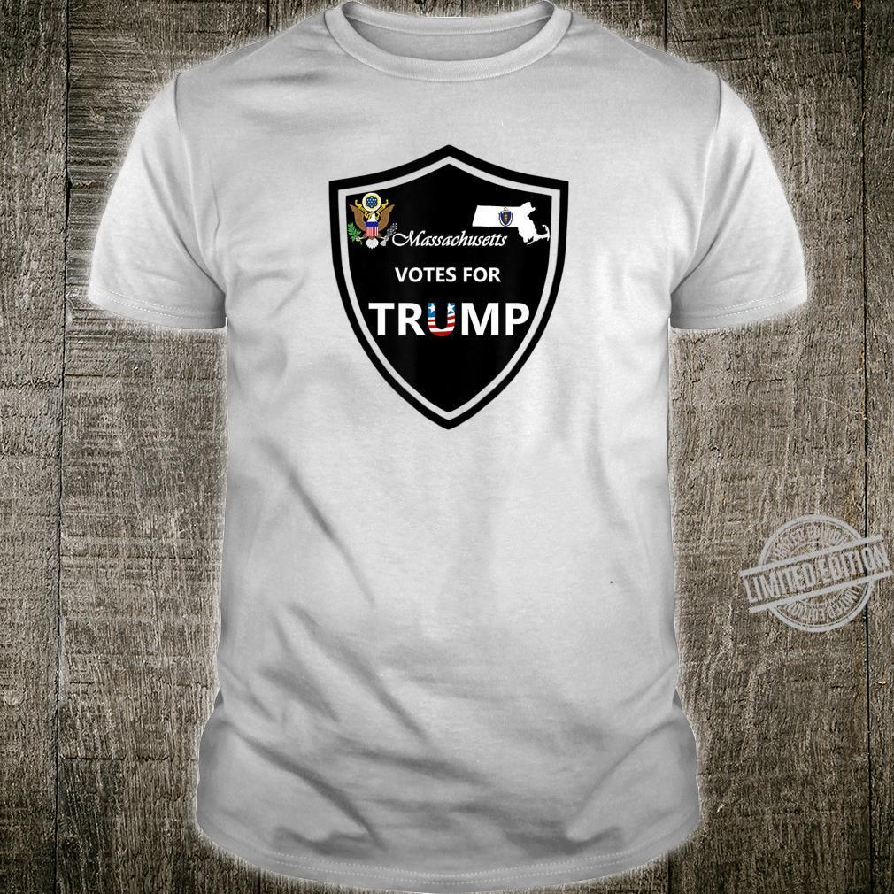 Massachusetts Votes For Trump President 2020 Farbserie N1 Shirt