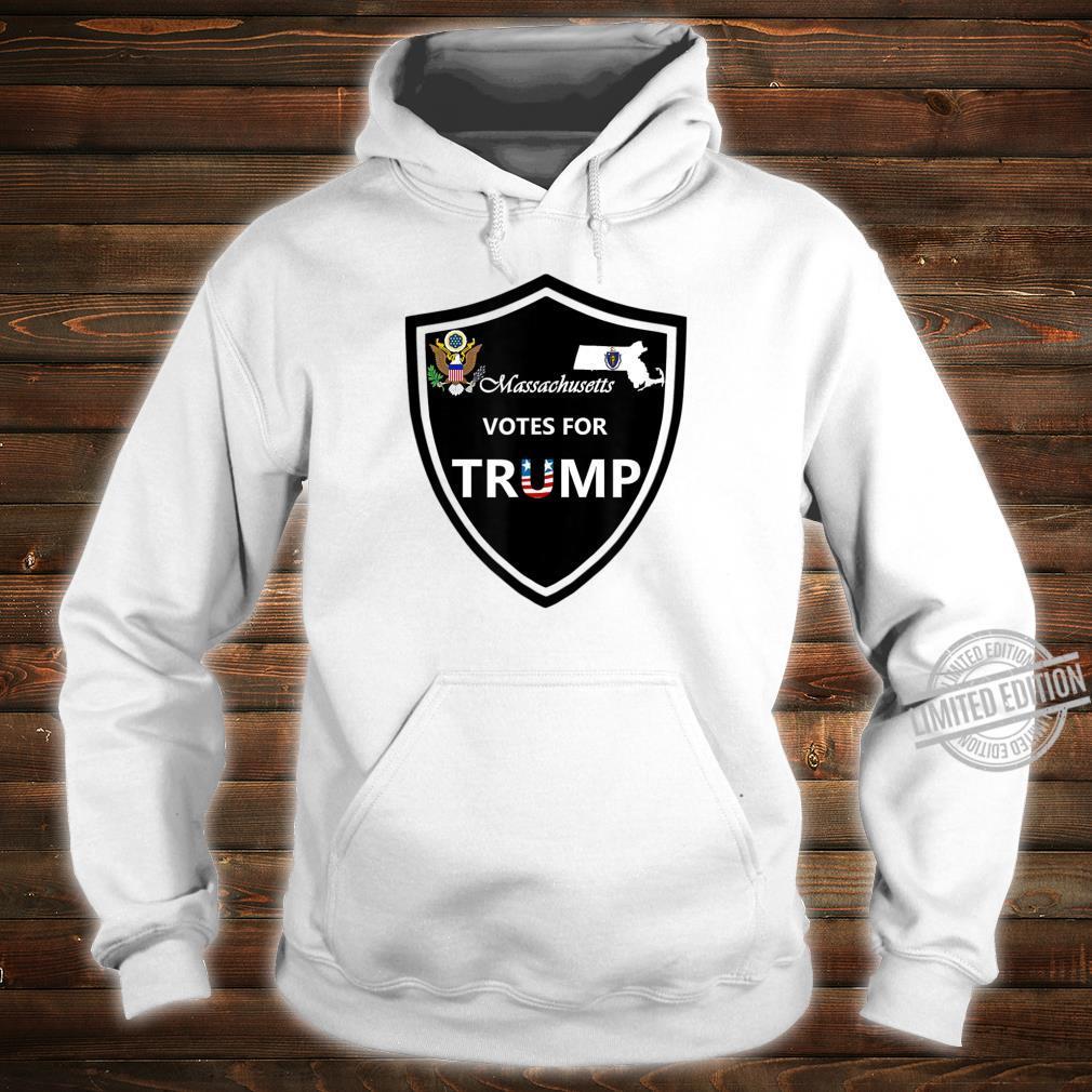Massachusetts Votes For Trump President 2020 Farbserie N1 Shirt hoodie