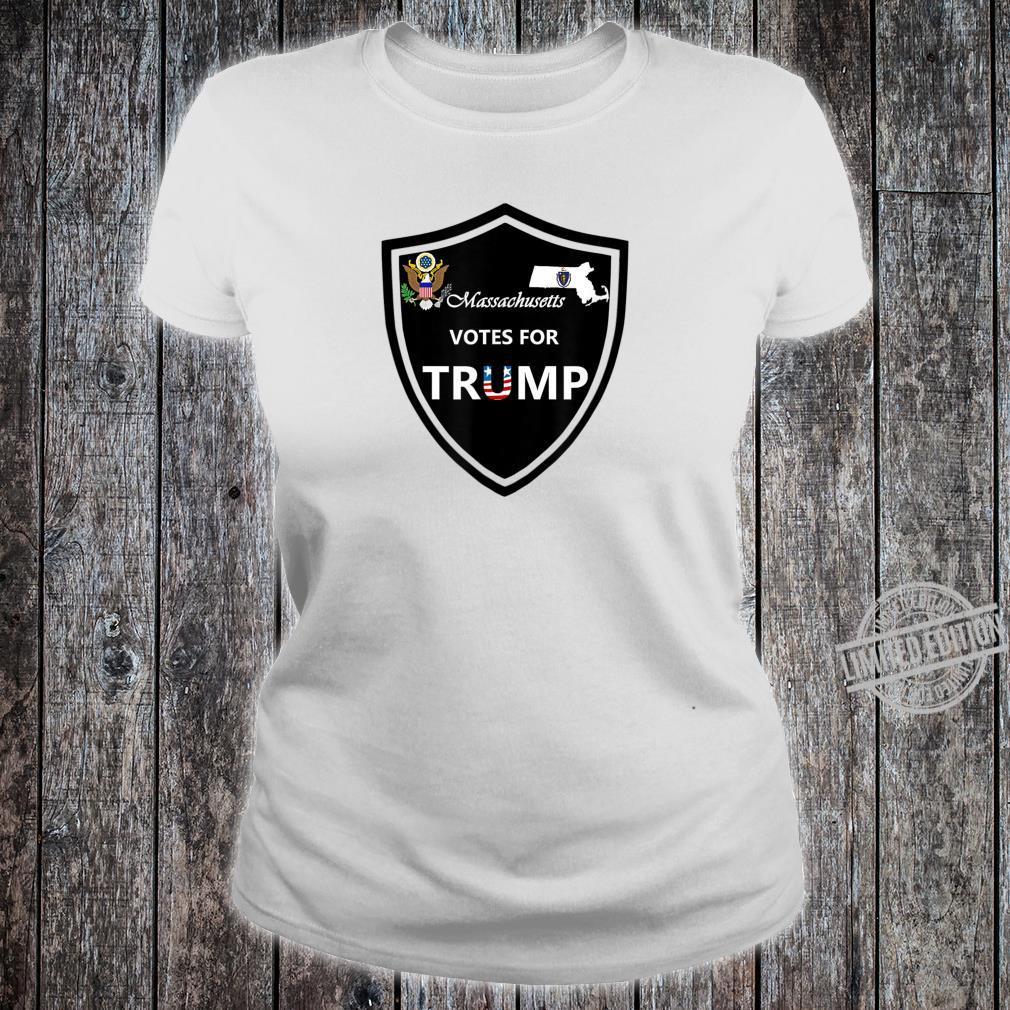 Massachusetts Votes For Trump President 2020 Farbserie N1 Shirt ladies tee