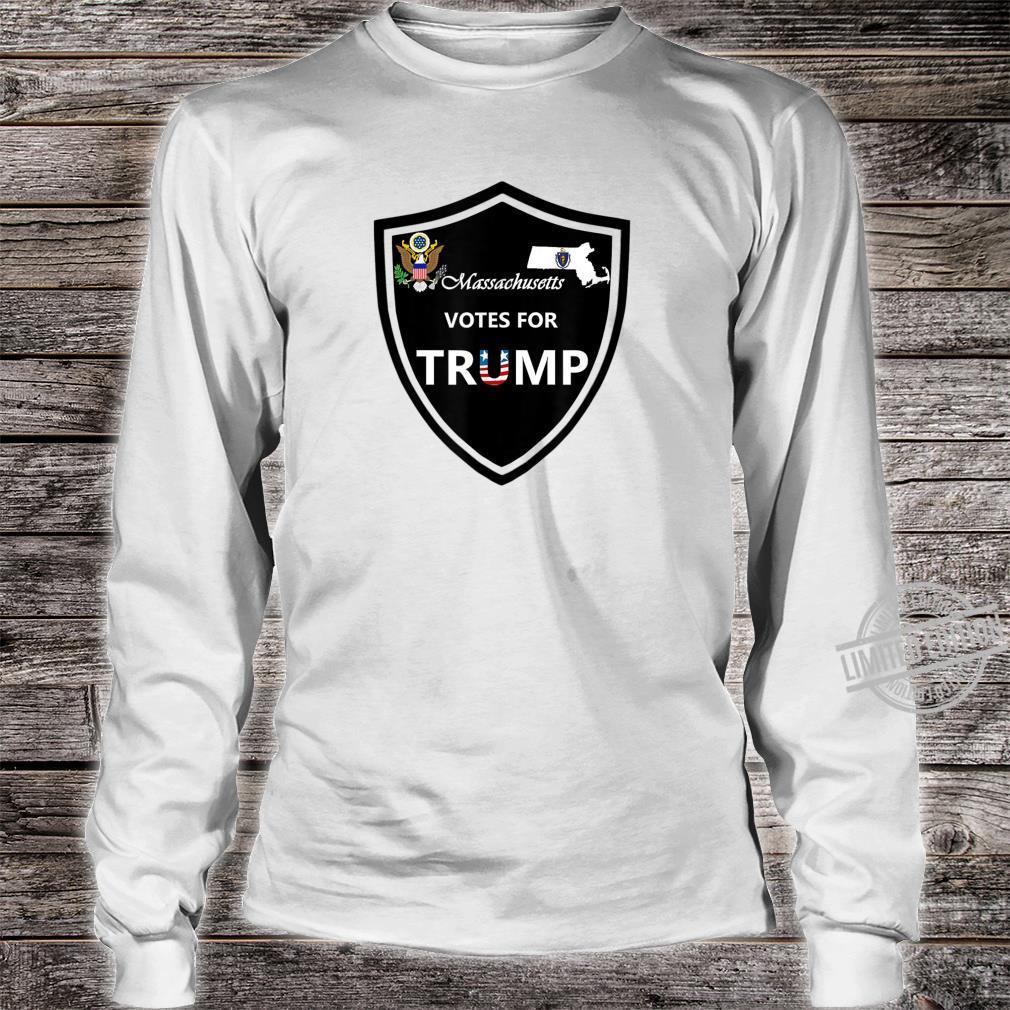 Massachusetts Votes For Trump President 2020 Farbserie N1 Shirt long sleeved