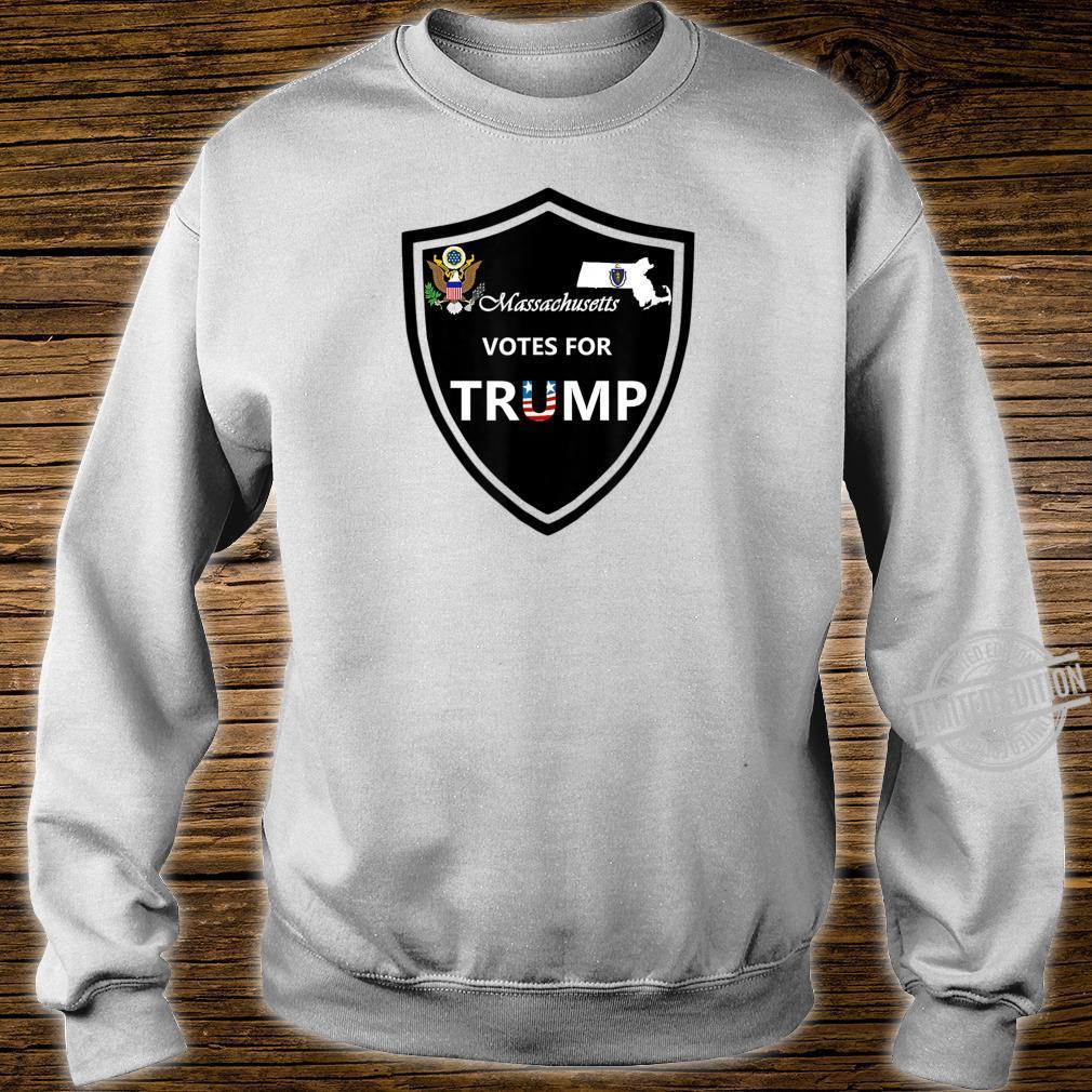 Massachusetts Votes For Trump President 2020 Farbserie N1 Shirt sweater