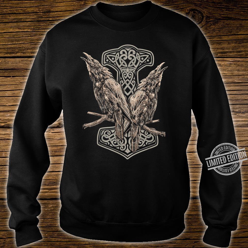 NORDISCHE MYTHOLOGIE ODINS RABEN HUGIN UND MUNIN THOR HAMMER Shirt sweater