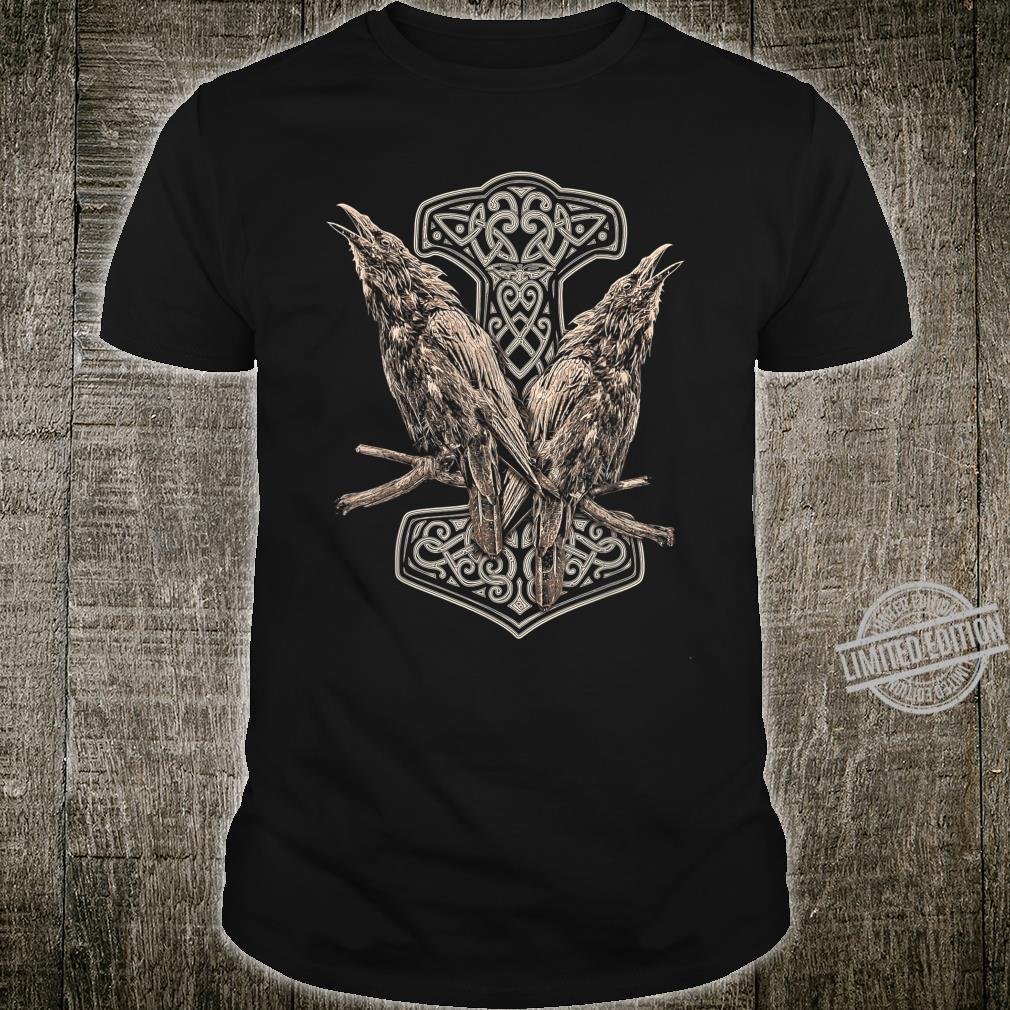 NORDISCHE MYTHOLOGIE ODINS RABEN HUGIN UND MUNIN THOR HAMMER Shirt
