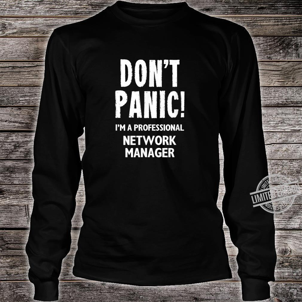 Network Manager Shirt long sleeved