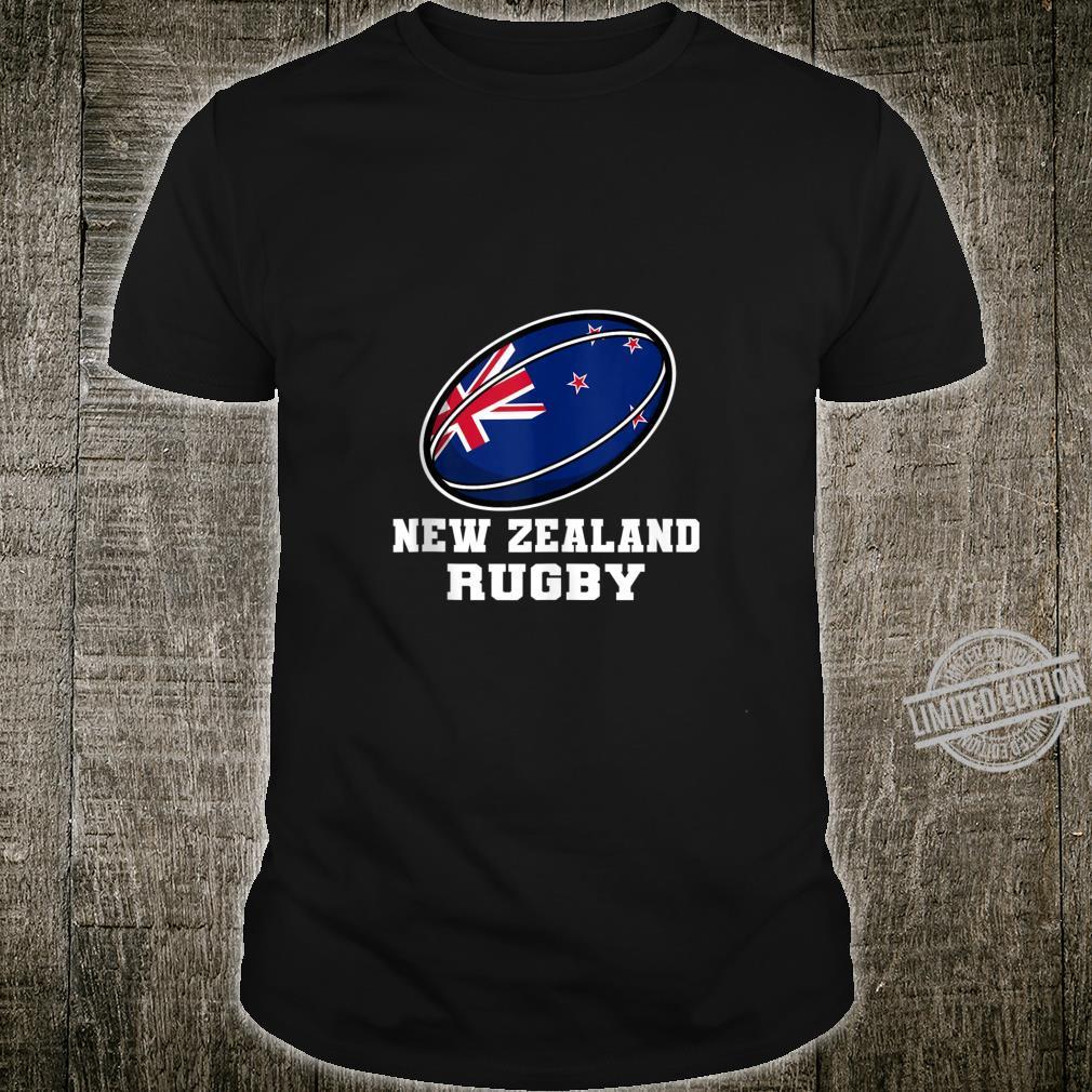 New Zealand Rugby Gear New Zealand Flag Rugby Fan Shirt