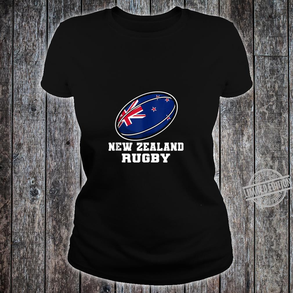 New Zealand Rugby Gear New Zealand Flag Rugby Fan Shirt ladies tee