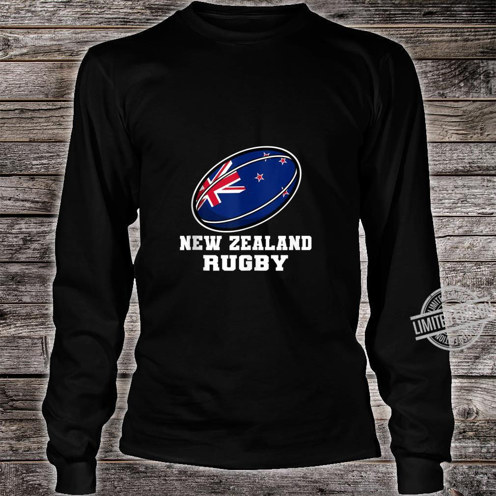 New Zealand Rugby Gear New Zealand Flag Rugby Fan Shirt long sleeved