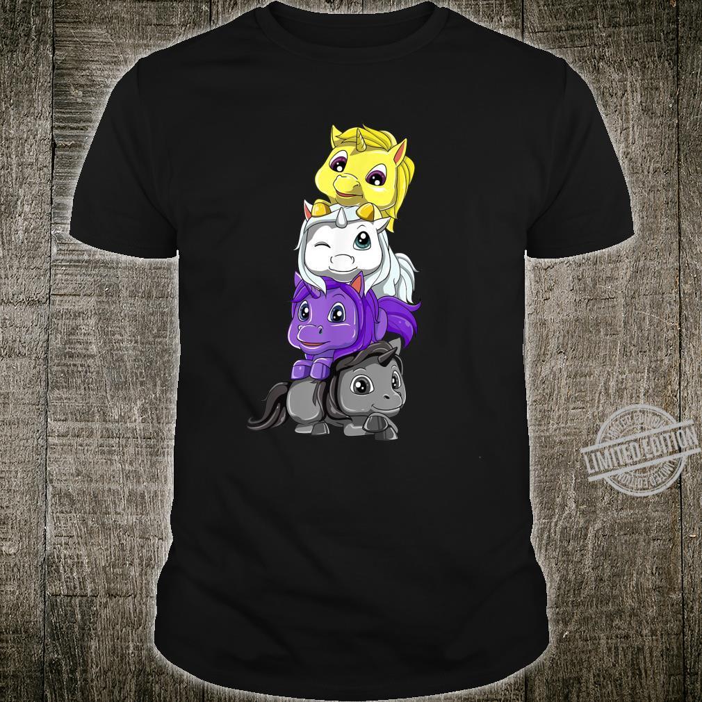 Nichtbinär Einhörner Enby und LGBTQ Unicorn Geschenk Shirt