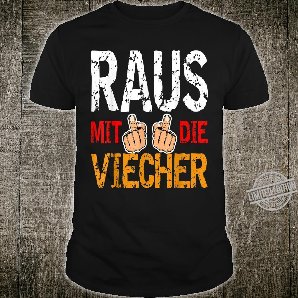 Raus mit die Viecher Ritter Meme Bild Witziger Humor Spruch Shirt